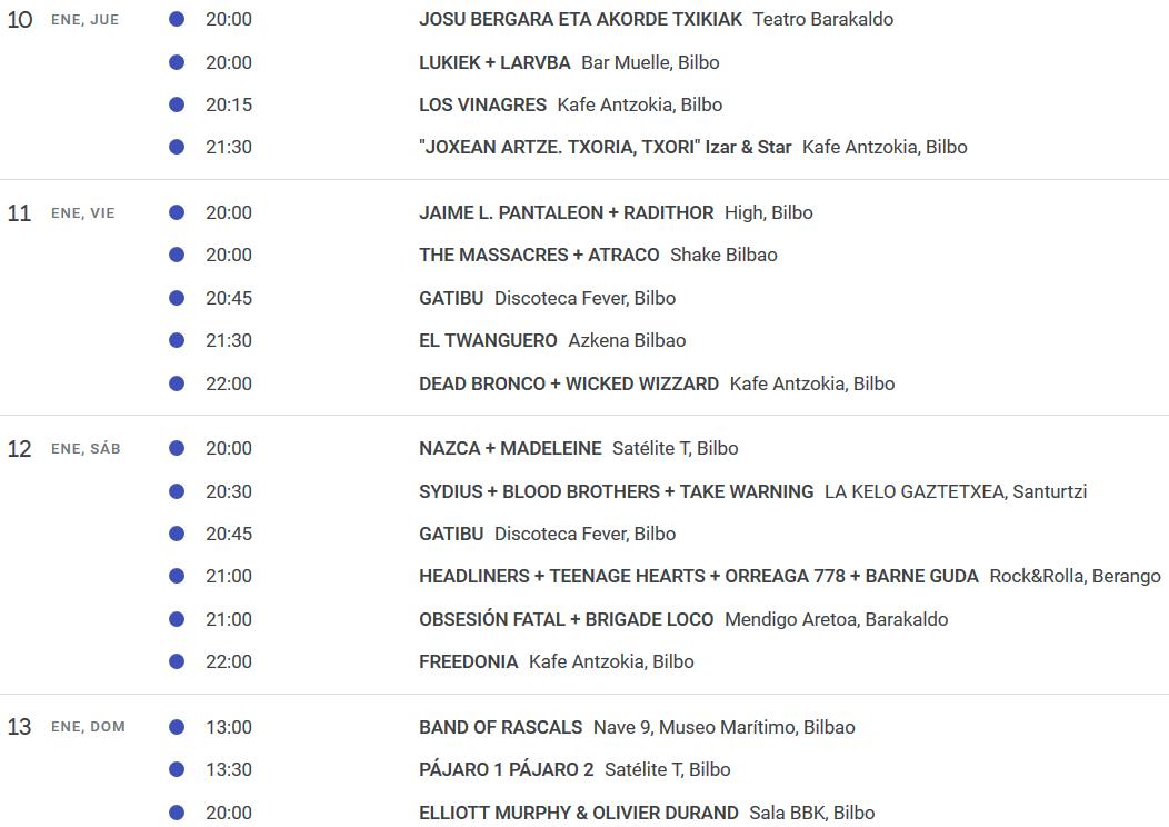 CULTURA ROCKERA 3.0. Si las giras se siguen haciendo en Euskadi es porque funcionan. - Página 8 Concie14