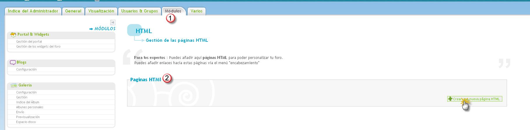 La página HTML Html10