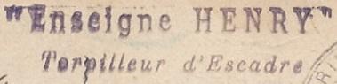 * ENSEIGNE HENRY (1912/1928) * 14-1110