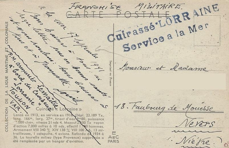 * LORRAINE (1916/1953) * 41-0910