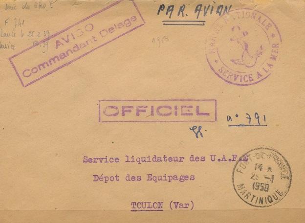 * COMMANDANT DELAGE (1939/1960) * 419_0010