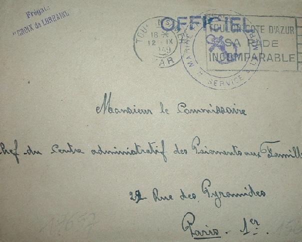 * CROIX DE LORRAINE (1944/1961) * 49-0910