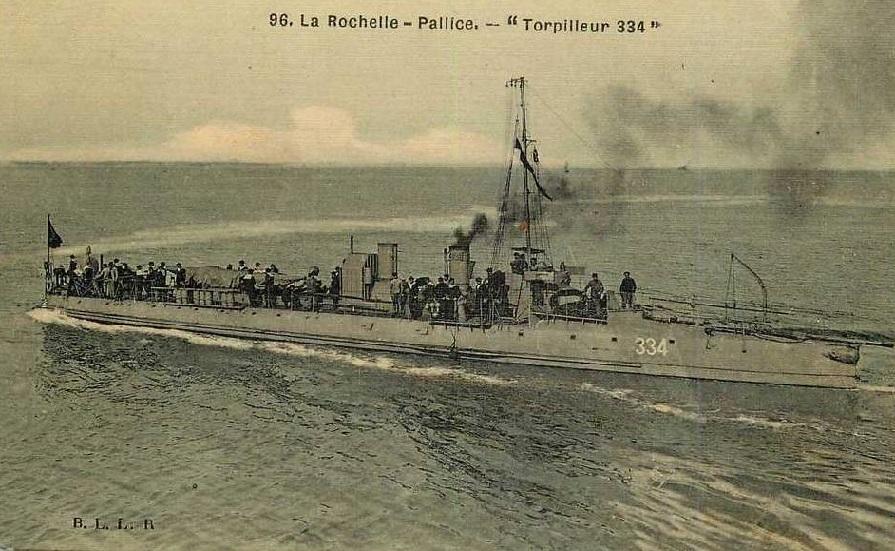 + TORPILLEUR 334 (1907/1920) + Torpi122