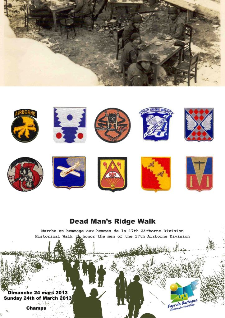 Death Man's Ridge walk 2013 -  marche de la 17th AB DIV Flyer_10