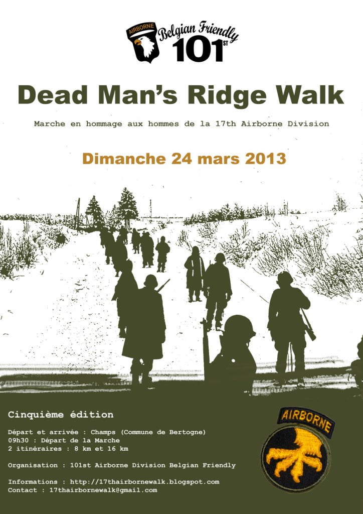 Death Man's Ridge walk 2013 -  marche de la 17th AB DIV Poster10