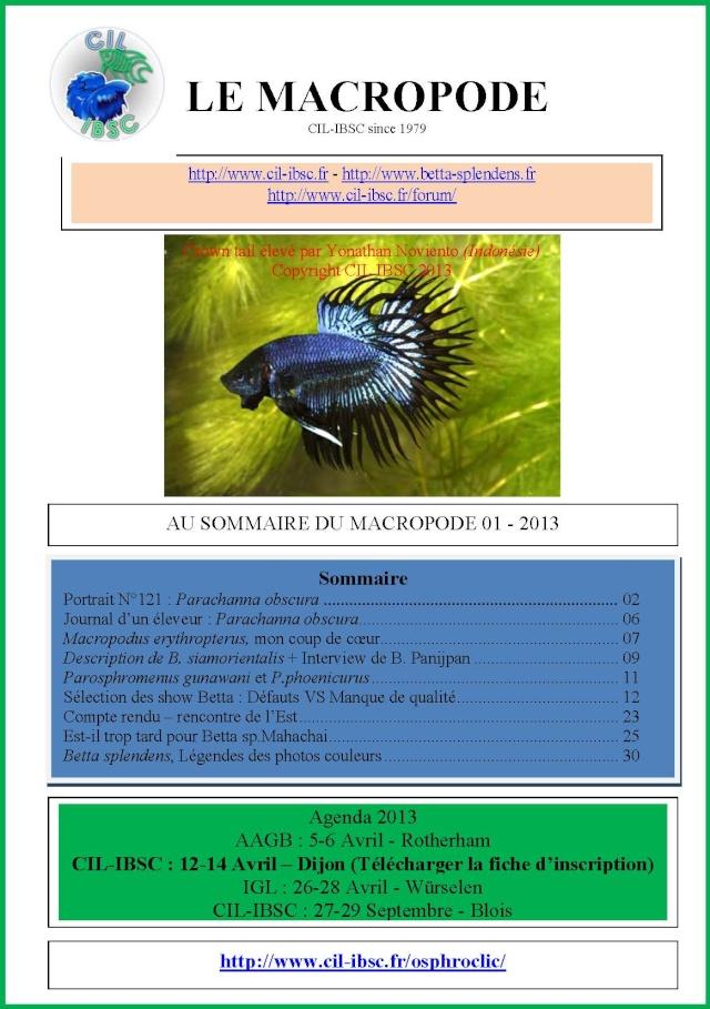 Sommaires revue du Macropode. 2013-010