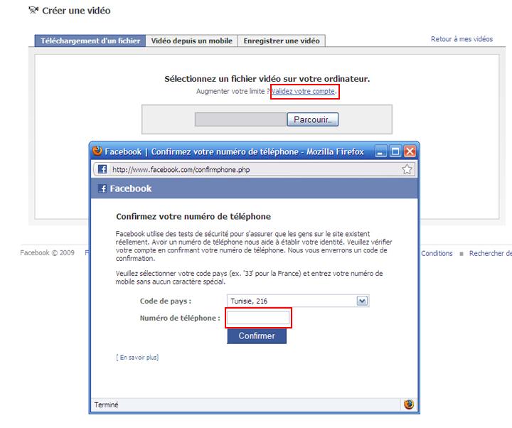 Pour Valider Votre compte Facebook Untitl12