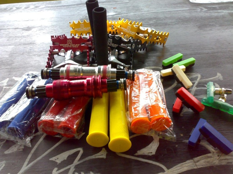 Some colourful trial parts .. for sale :) World_10