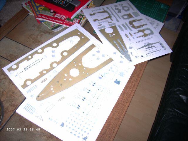 Baubericht Bismarck WHV 1/250 - Bericht von 2007 01_sta10