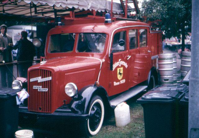 Feuerwehr - Nostalgie und Vergangenes Opel_b10