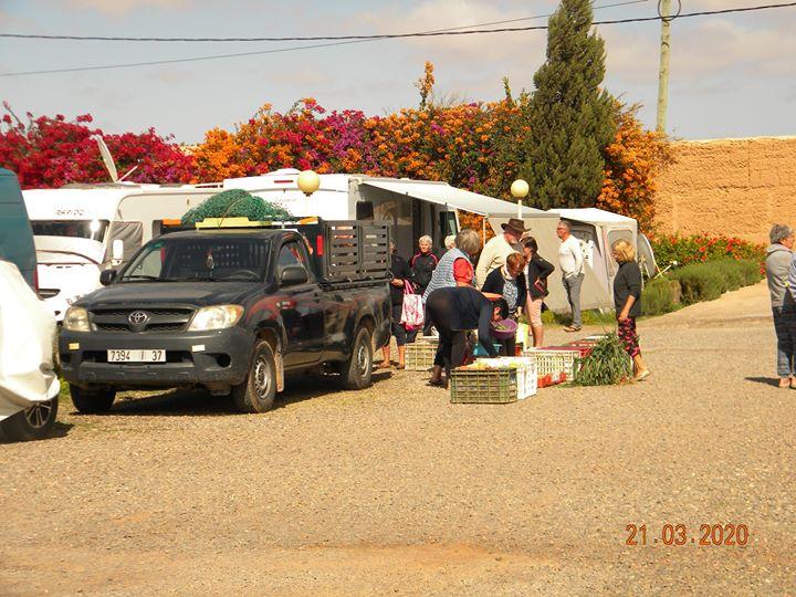 le confinement dans les campings au Maroc avril 2020 Marchz10