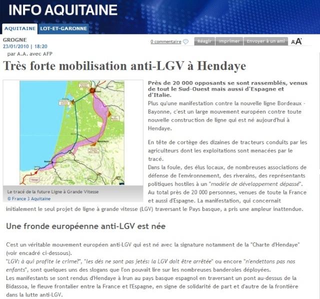 Manifestation anti-LGV du 23/01/10 à Hendaye Henday10