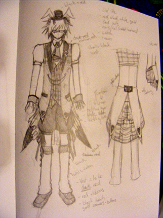 post the drawings of your cosplay plans. White_10
