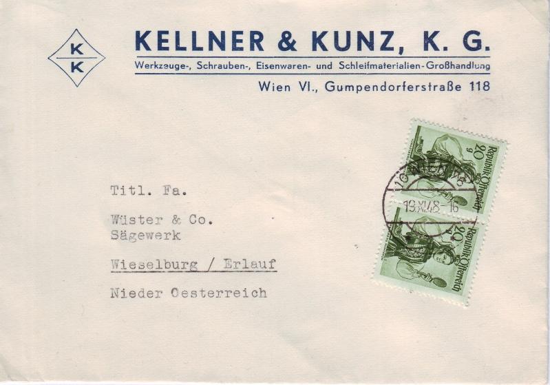 trachten - Trachtenserien ANK 887 - 923 und 1052 - 1072 Belege Tracht11