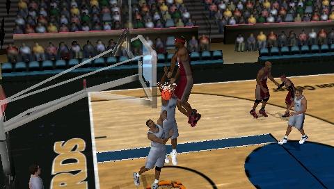 Funny dunk glitch in NBA 2K10 Snap0013