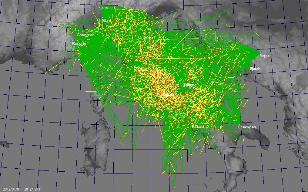 Mappa triangolazioni IMTN 2012  2012im11