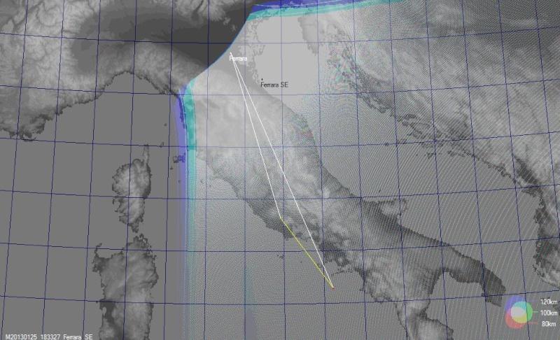 fireball 2013.01.25 18:32:27 UT Gmap2511