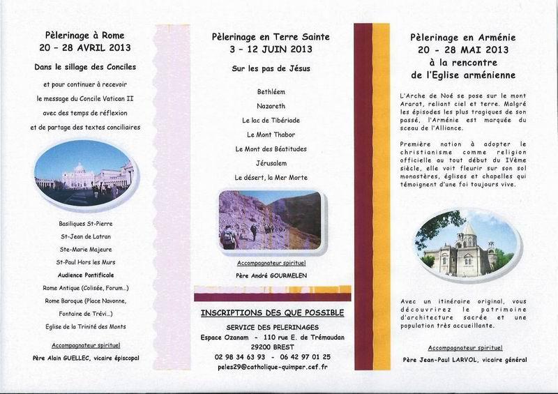 Pèlerinages 2013 du Diocèse de Quimper Peleri11