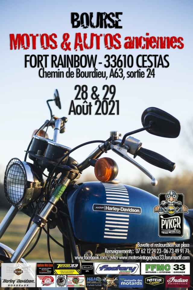 Bourse de (Cadaujac) aura lieu a Cestas (33) le samedi 28 et dimanche 29 aout 2021 dans le site de Fort Rainbow. Affich11
