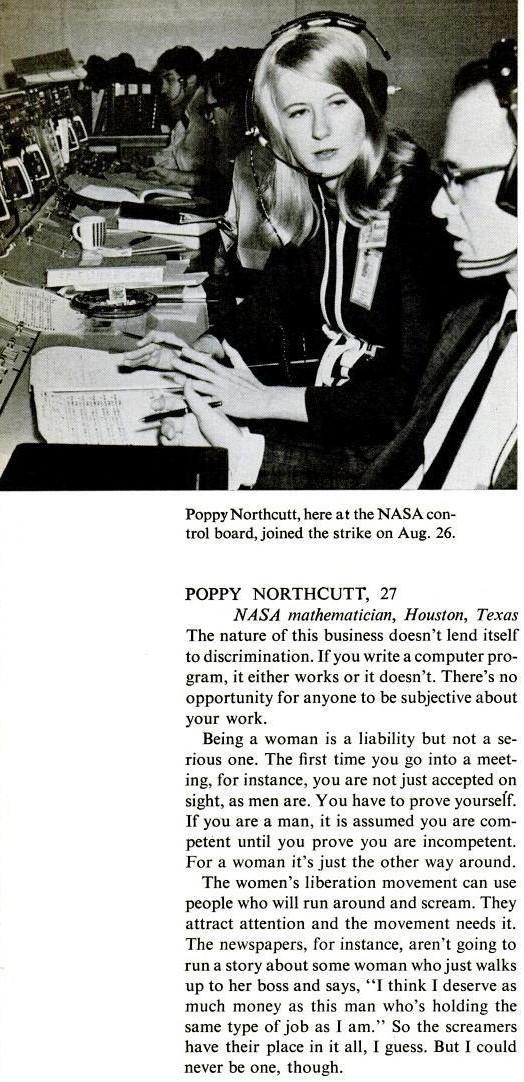 Poppy Northcutt et les femmes du programme Apollo Poppyn10