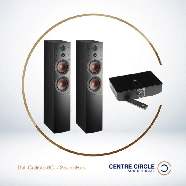 Dali Callisto 6C + Sound Hub (with NPM-1 BluOs streaming card)(demo set) Premiu10