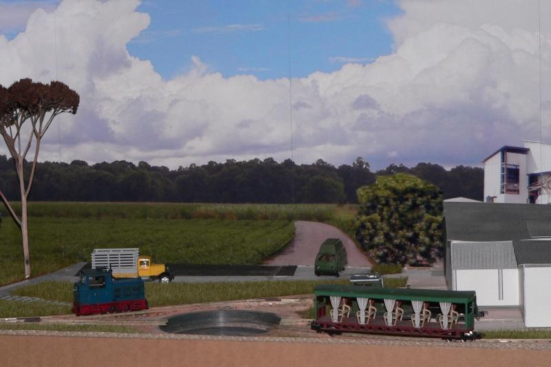 Depot einer australischen Zuckerrohrbahn in H0e P1290011