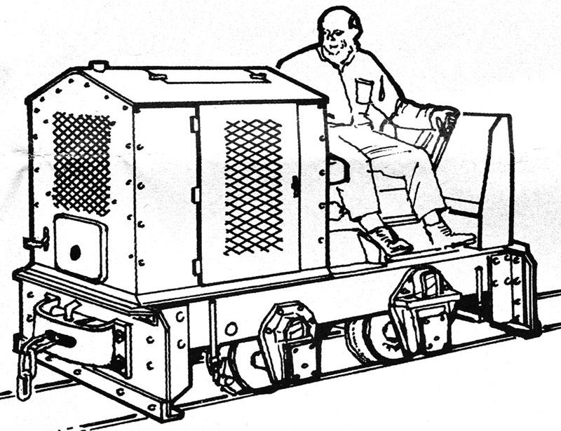 Eine kleine O&K Feldbahndiesellok entsteht Zeichn10