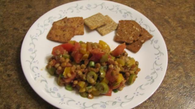 Salade de lentilles aux légumes Divers10