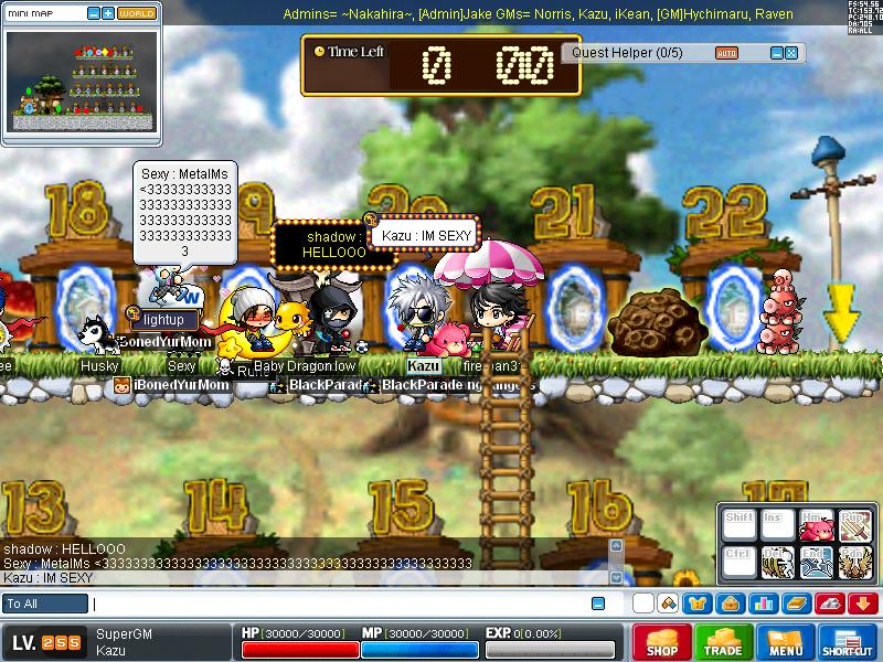 some old pic of me in some servers Maple010