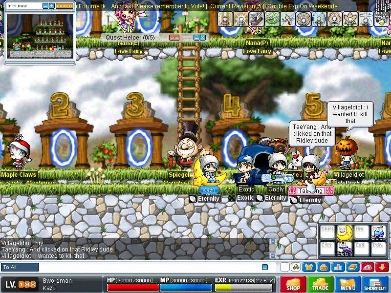 some old pic of me in some servers Maple013