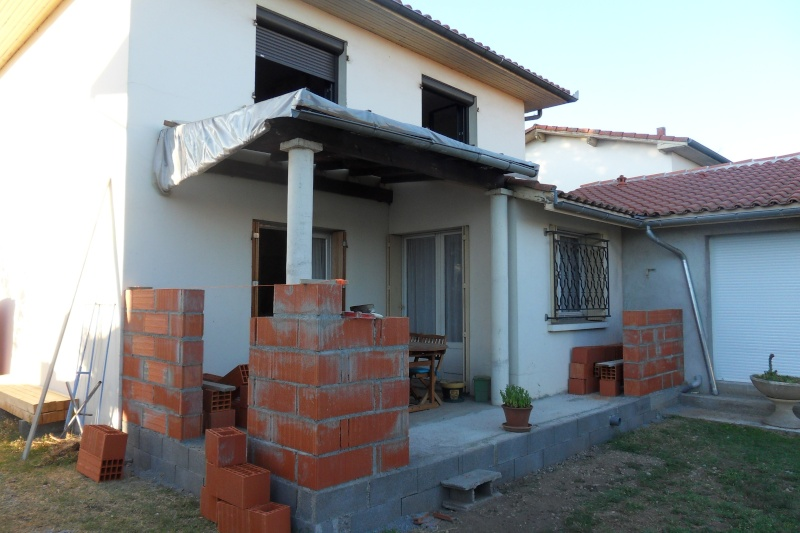 Création d'un extension pour inclure la terrasse dans la maison Sdc14813