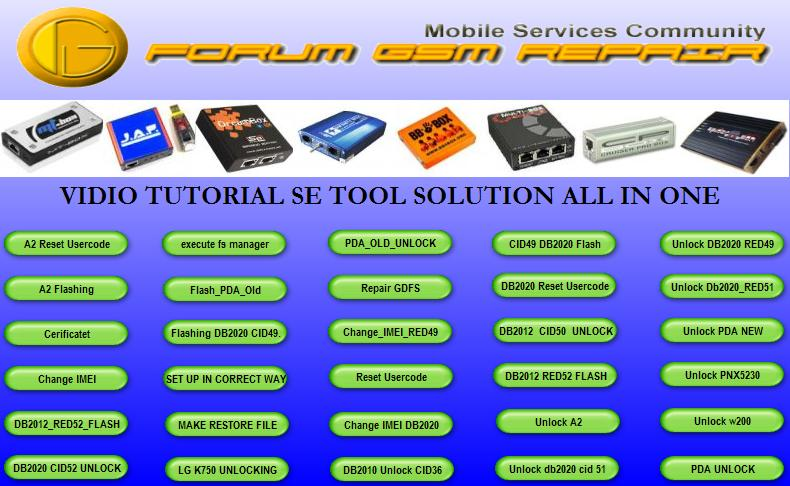 VIDEO TUTORIAL SE TOOL SOLUTION ALL IN ONE exe Ghg1010