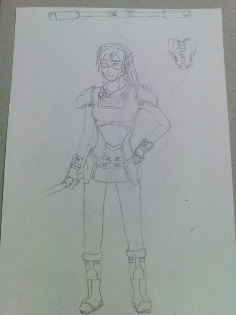 2013 sketch: Pulsefire Luxanna Crownguard Dsc00513
