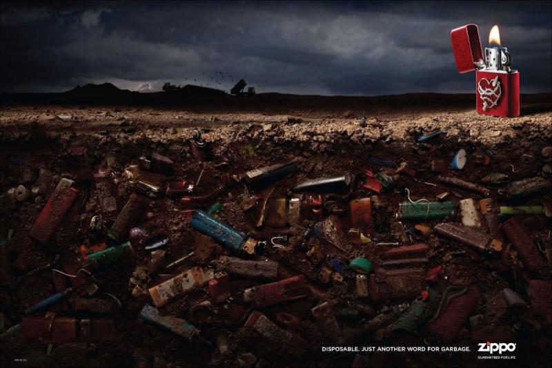 Les publicités Zippo Zippo210