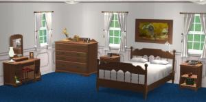 Спальни, кровати (деревенский стиль) Lsr238