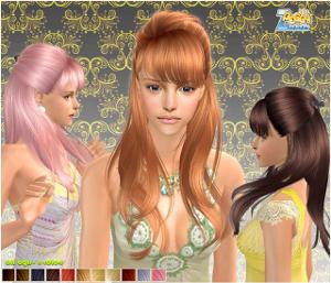 Женские прически (длинные волосы) Lsr443
