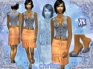 Повседневная одежда (платья, туники, комплекты с юбками) - Страница 4 Lsr82