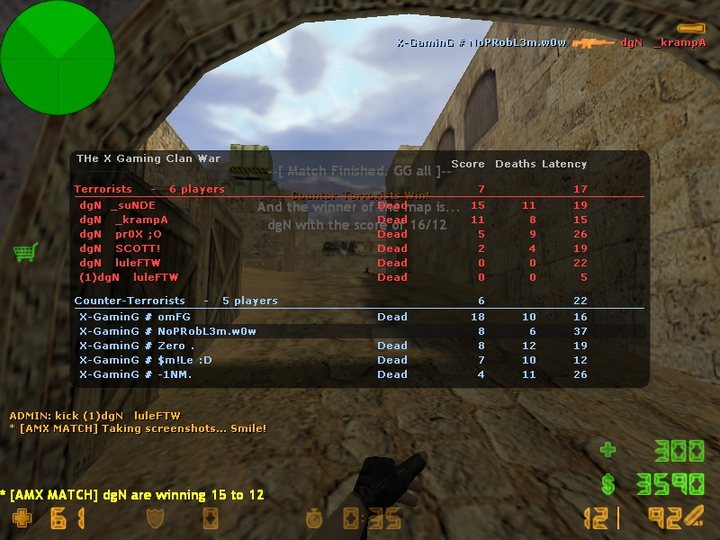 X-Gaming vs. dgN [W] De_dus10