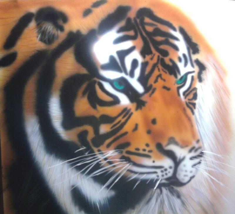 Peinture à l'aérographe Tigre210