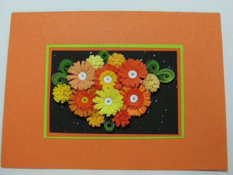 Quilled Card For Sale Orange13