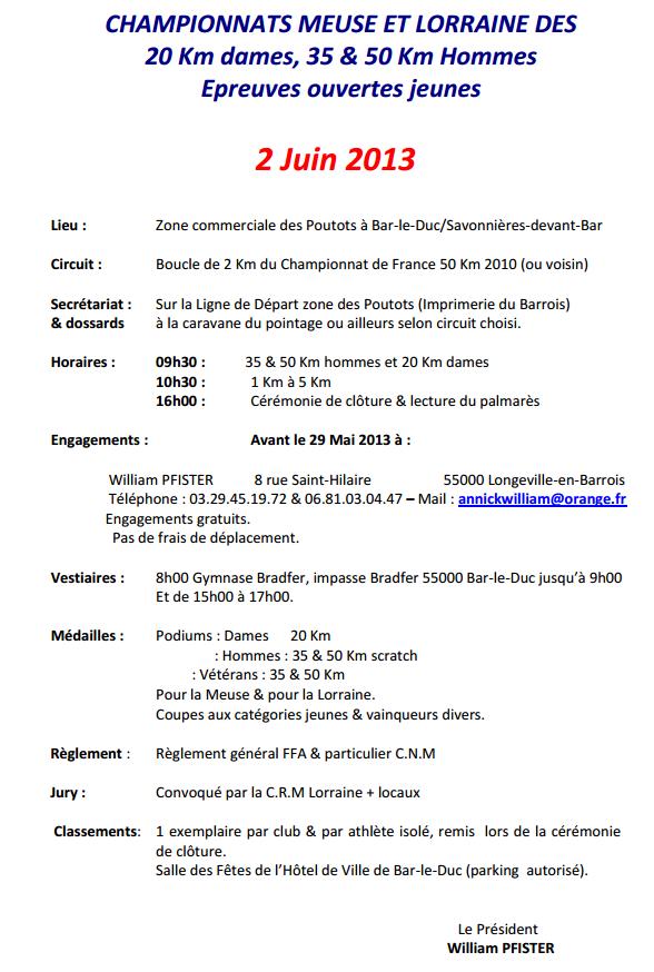 chpt Meuse et Lorraine: 50km H, 20km F, 35km : 2 juin 2013 50km_b11