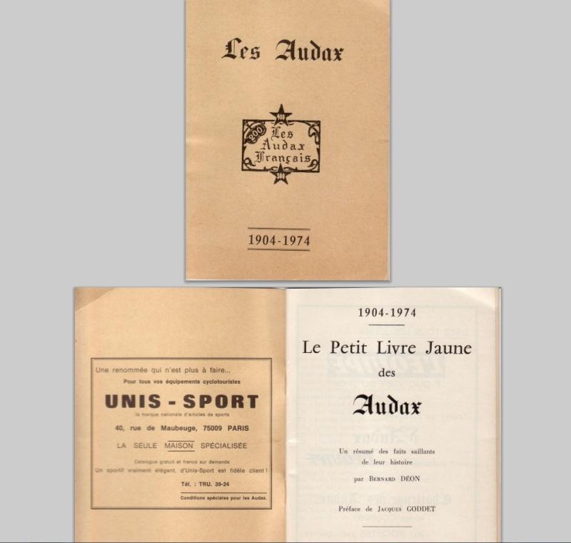 Le petit livre jaune des Audax par:  Bernard Déon  Audax_10