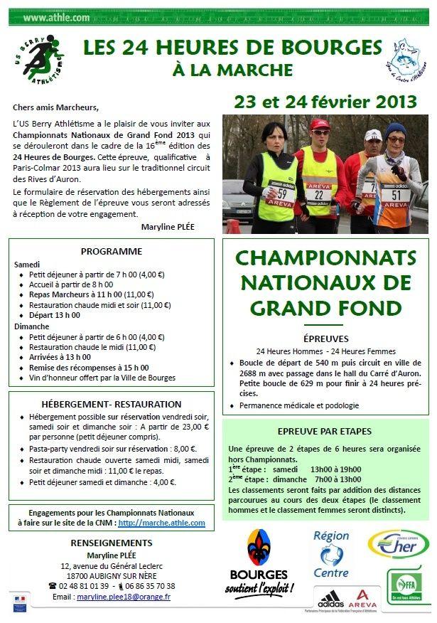 24 heures de Bourges les 23 et 24 février 2013 et les 2x6 h Bourge10