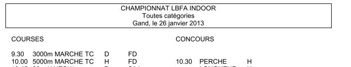 26 janvier 2013: chpt LBFA à Gand (B) :3000m F/ 5000m H Chpt_l11