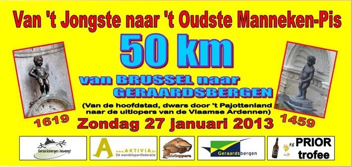 Du nouveau Manneken-Pis à l'ancien: 50km: 27/01/2013 Mannek10