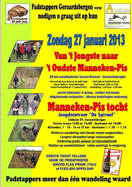 Du nouveau Manneken-Pis à l'ancien: 50km: 27/01/2013 Mannek11