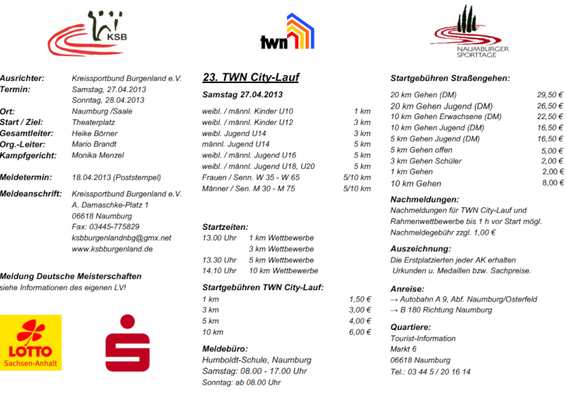 27 avril 2013 à Naumburg (Allemagne): 20 (chpt)/10/5/1 km Naumbu11