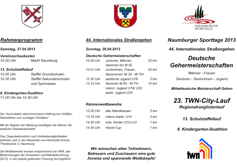 27 avril 2013 à Naumburg (Allemagne): 20 (chpt)/10/5/1 km Naumbu12