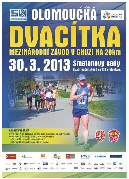 30/03/2013 à Olomouc (Rép Tchéque): 20km (chpt), 10, 5, 3 km Olomou11