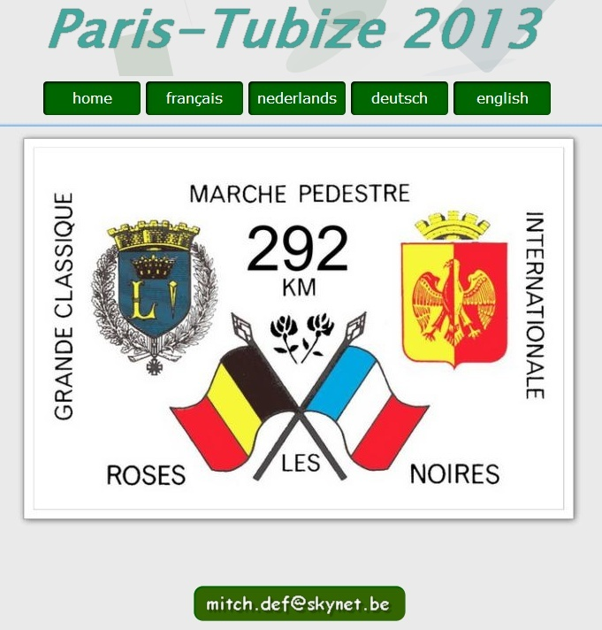 Paris-Tubize, 292 km: 17-20 mai 2013 , places limitées Paris-12